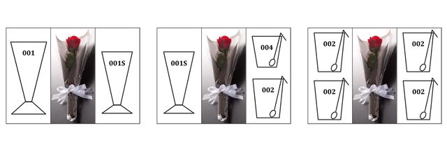 フリー フラワー カスタム ギフトボックス バラ プリザーブド  rayes レイエス ダブルウォールグラス Lサイズ 組み合わせ例 レイエスダブルウォールグラス
