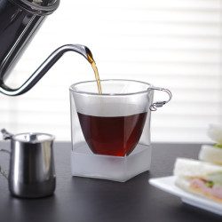 ボトムカバー コーヒー 珈琲 サンドウィッチ coffee rayes レイエスダブルウォールグラス