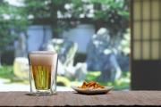 ビールグラス ビアグラス   夏 和室の縁側 rayes レイエスダブルウォールグラス