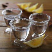 テキーラ ショットグラス レモン 塩 ソルト rayes レイエス ダブルウォールグラス